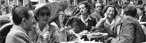 Cafe scene 1940s
