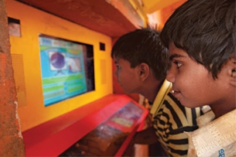 Hole in the Wall: Minimally Invasive Learning Stations designed by Dr Sugata Mitra