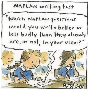 Wilcox cartoon - NAPLAN