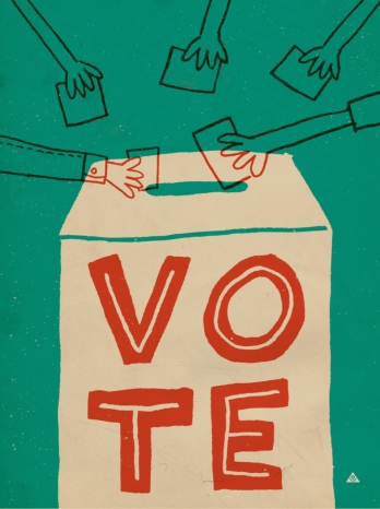 Vote illustration (adapted) by Eric Comstock